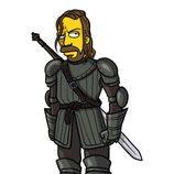 Sandor Clegane amarillo, si fuera un personaje de 'Los Simpson'