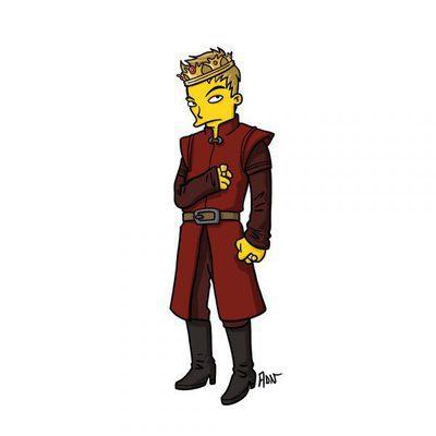 Personajes de 'Juego de tronos', dibujados como si estuvieran en 'Los Simpson'