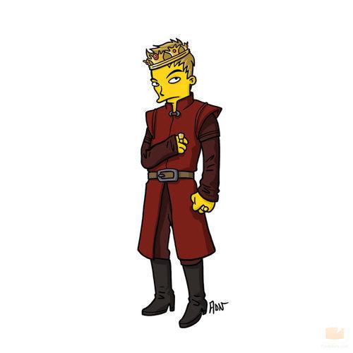 Joffrey Baratheon, de 'Juego de tronos', sería así en 'Los Simpson'