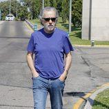 Fernando Trueba en el tanatorio de Concha García Campoy