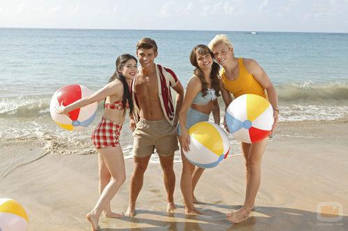 Los cuatro protagonistas de 'Teen Beach Movie'