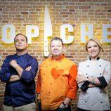 Los jueces de 'Top Chef' en la rueda de presentación del programa
