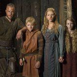 La familia Lodbrok de la serie 'Vikingos'