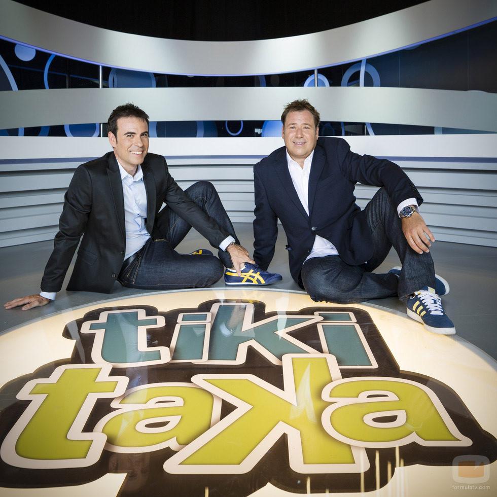 Felipe del Campo y Enrique Marqués, presentadores de 'Tiki-Taka'