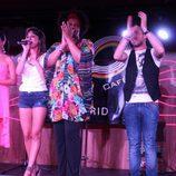 Los concursantes de 'El Número Uno' en el concierto de la sala 40 Café de Madrid