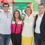 Toñi Moreno junto a directivos de RTVE