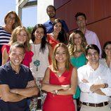 Reporteros de 'Entre todos' con Toñi Moreno