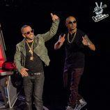 Wisin & Yandel a su entrada en el plató de 'La Voz... México'