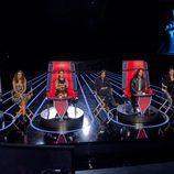 El jurado de 'La Voz... México 3' en sus sillas