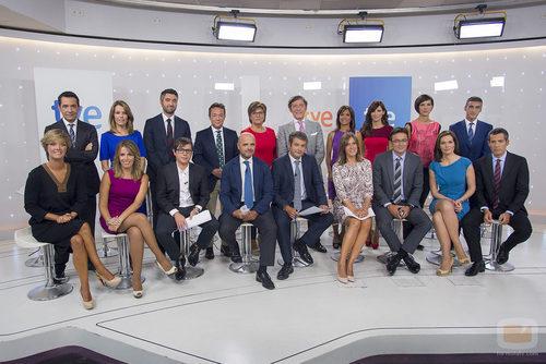 El nuevo equipo de los informativos de TVE