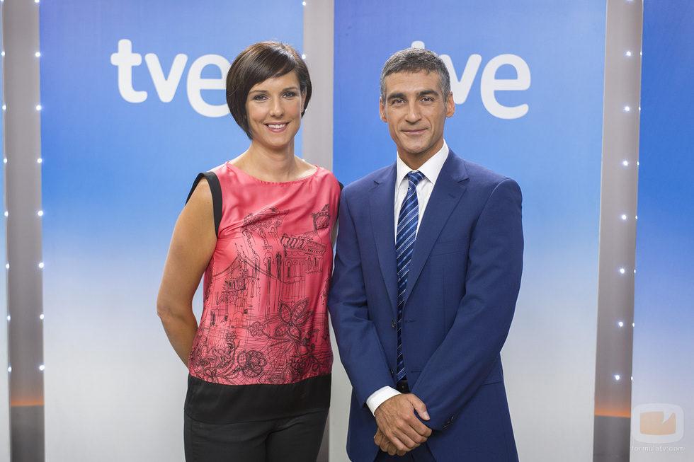 Mónica López y Albert Barniol de 'El tiempo'