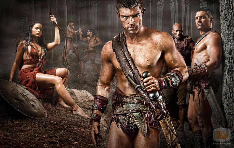 Protagonistas de 'Spartacus. Venganza'