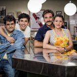 Andrés Arenas, Victor Sevilla, Javier Cifrián y Mariola Fuentes en 'Vive cantando'