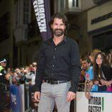 Rodolfo Sancho en la alfombra naranja del FesTVal de Vitoria 2013