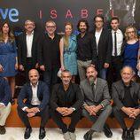 Reparto de 'Isabel' en la presentación de su segunda temporada en el FesTVal de Vitoria