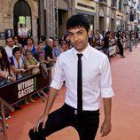Antonio Díaz, 'El mago Pop', en la alfombra naranja del FesTVal de Vitoria