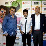 Joseba Fiestras, Antonio Díaz y Fernando Jerez en el estreno de 'El mago Pop'
