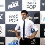Antonio Díaz, en el photocall antes del estreno de 'El mago Pop'