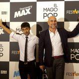 Antonio Díaz, 'El mago Pop', junto a Fernando Jerez