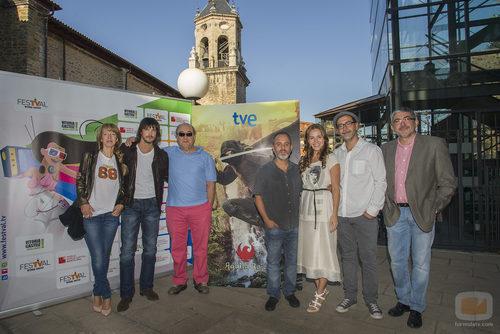 Presentación de los nuevos capítulos de 'Águila Roja' en el FesTVal de Vitoria 2013