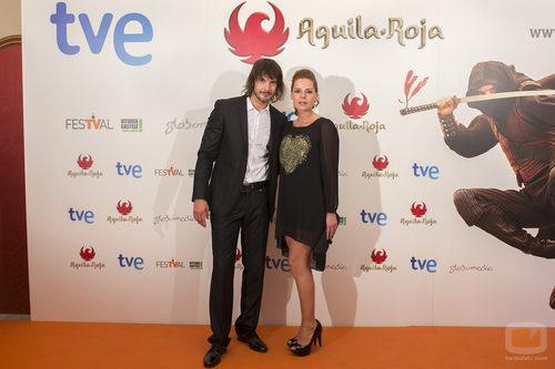 David Janer y Miryam Gallego en el FesTVal de Vitoria