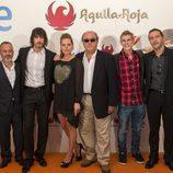 David Janer y su compañeros de reparto de 'Águila Roja' en el FesTVal