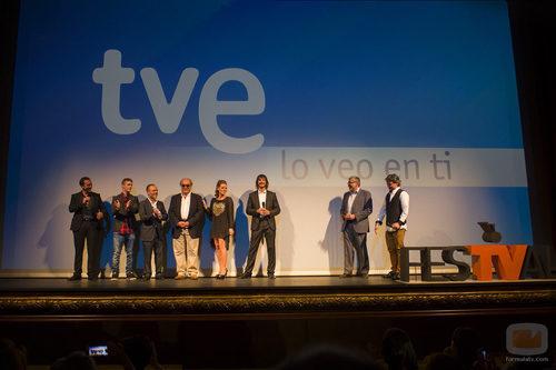 El reparto de 'Águila Roja' presentando la segunda mitad de la quinta temporada