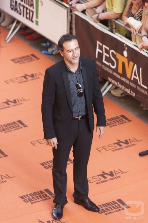 Santiago Molero en el preestreno de 'Águila Roja'