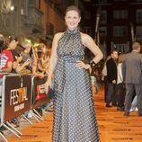 Aitana Sánchez-Gijón en la alfombra naranja del FesTVal de Vitoria