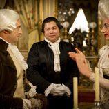 Chema, Soraya y Machupichu en el episodio 200 de 'Aída'