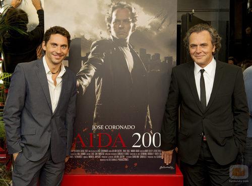 José Coronado y Paco León en el episodio 200 de 'Aída'