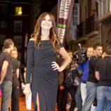 Melani Olivares en la alfombra naranja del FesTVal 2013
