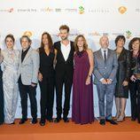 El equipo de 'El tiempo entre costuras' en el FesTVal de Vitoria 2013