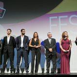 El equipo de 'El tiempo entre costuras' presenta la ficción en el FesTVal de Vitoria 2013