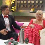 Leo y Silvia en el primer programa de '¿Quién quiere casarse con mi hijo?'