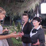 Fran y Mª Carmen con Luján Argüelles en '¿Quién quiere casarse con mi hijo?'