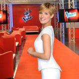 Tania Llasera en el backstage de 'La Voz 2'