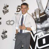 Jesús Vázquez, presentador de 'La voz', en la presentación