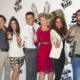 El equipo de 'La voz 2' en el 40 Café