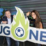 Josep Pedrerol y Lara Álvarez con el logo de 'Jugones'