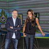 Josep Pedrerol con Lara Álvarez
