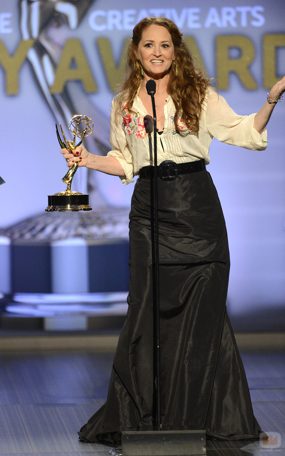 Melissa Leo en el escenario de los Creative Arts Emmy Awards