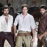 Antonio Velázquez, Raúl Mérida y Álex García en 'Tierra de lobos'