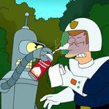 Fry y Bender en 'Futurama'