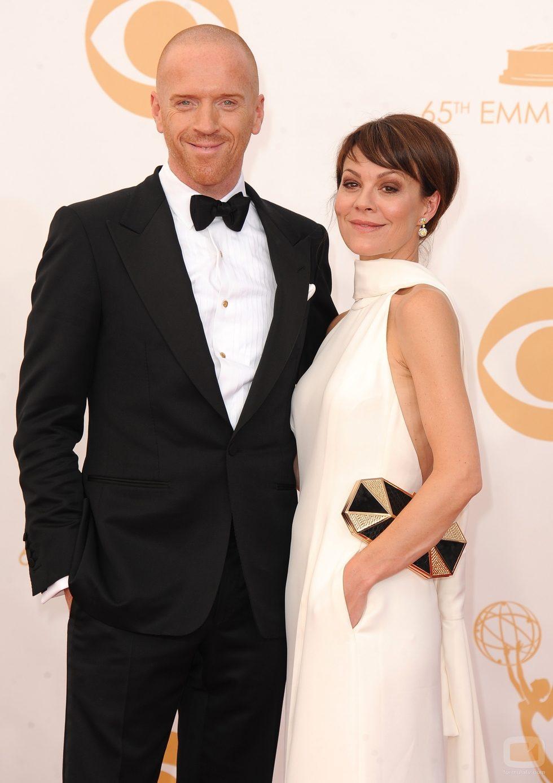 Damian Lewis y Helen McCrory en la alfombra roja de los Emmy 2013