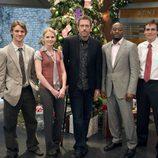 Hugh Laurie, Jennifer Morrison y el resto del equipo de House