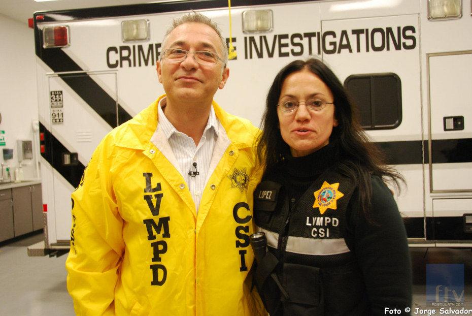 Javier Sardá con la policía de Las Vegas