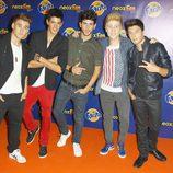 El grupo musical Auryn en los Neox Fan Awards 2013