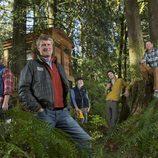 Peter Nelson y su equipo de 'Mi casa en un árbol'