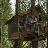 Peter Nelson y sus compañeros de 'Mi casa en un árbol'